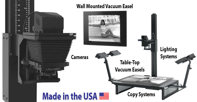 tti copy systems, vacuum easels, lighting systems, and cameras